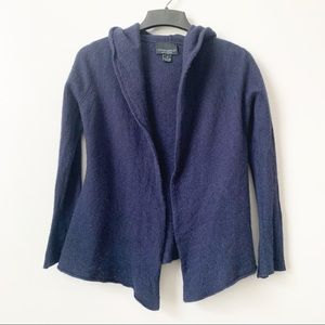 Cynthia Rowley Cashmere Blue Open Front Hoodie